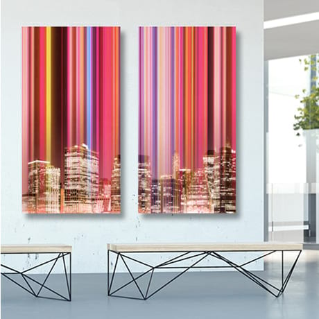 Custom Canvas Prints of Cityscape in Lobby