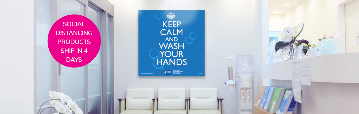 Custom Sign Keep Calm and Wash Your Hands